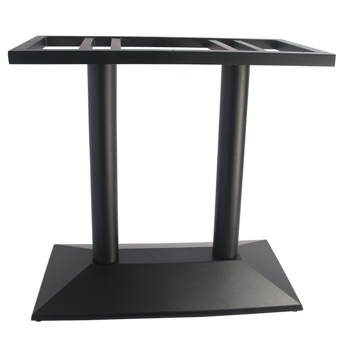 Black Cast Iron Rectangular Dining Table Base